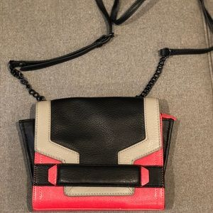 Vince Camuto Hot Pink and Black Crossbody Bag
